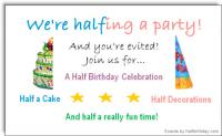 Half Birthday Party Evite