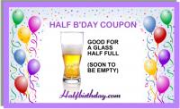 Half Glass Coupon