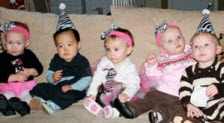 Babies at Half Birthday Party
