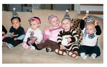 Babies Party on Couch