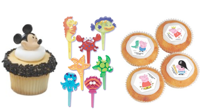 Cupcake Toppers, Picks & Decorations