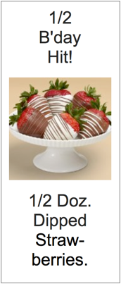 Half Dozen Dipped Strawberries