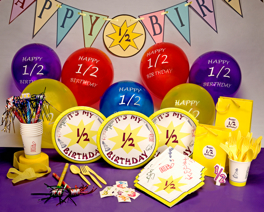 Half Birthday Party Supplies