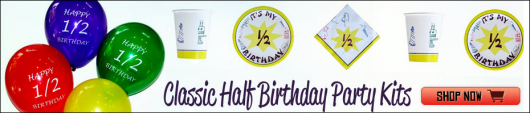 Classic Half Birthday Party Kits