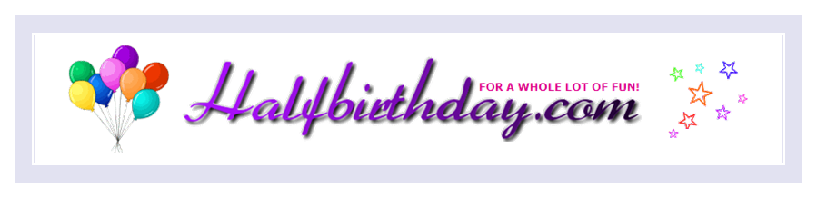 Halfbirthday.com Banner