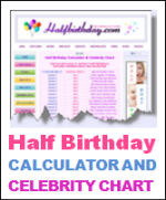 Half Bithday Calculator