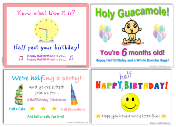 Half birthday decorations half birthday calculator and celebrity 12 6month birthdays bookmarktalkfo Image collections