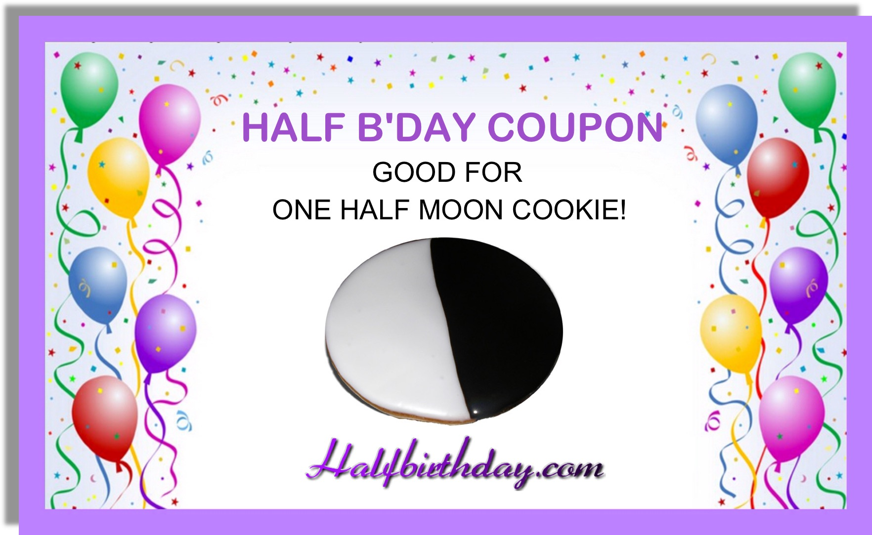 Half Moon Cookie Coupon