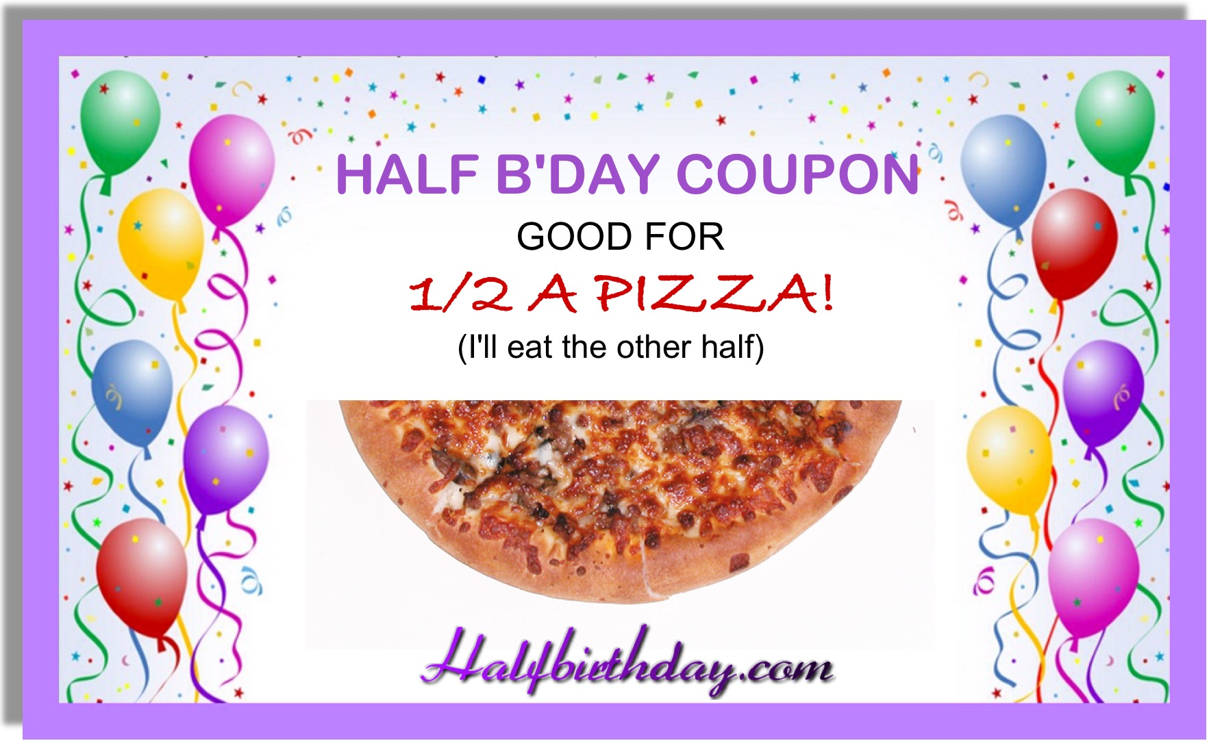Half a Pizza Coupon