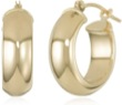 Half Round Gold Earrings