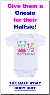 Send half birthday ecards and party invitations free half birthday body suit filmwisefo Images